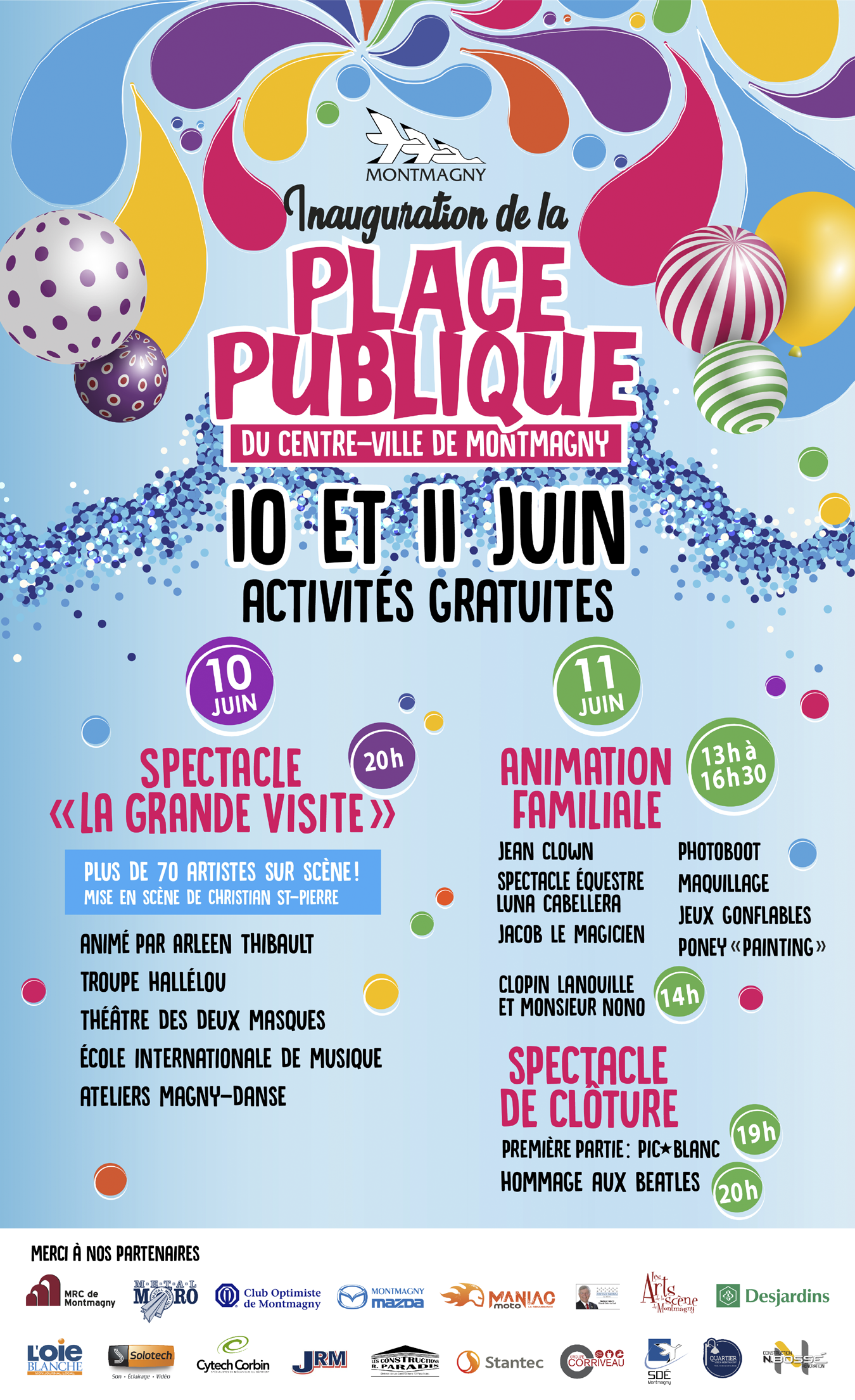 Inauguration de la place publique_programmation
